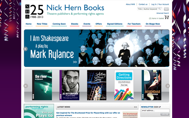 Nick Hern book publishers website design