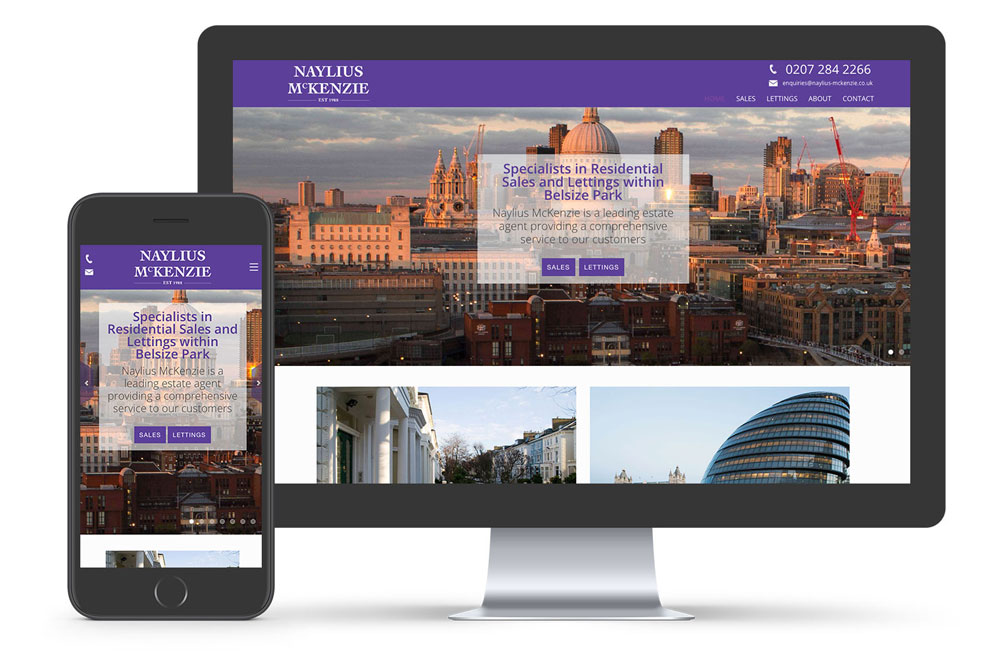 estate agent website design